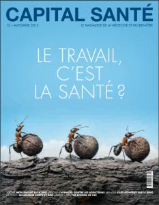 Article de presse paru dasn la magasine capital santé écris par Charlotte Mann hypnothérapeute sur Aix les bains.